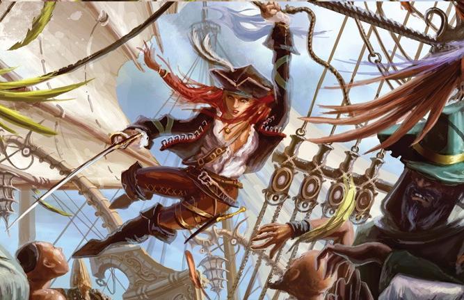 Swashing pirate