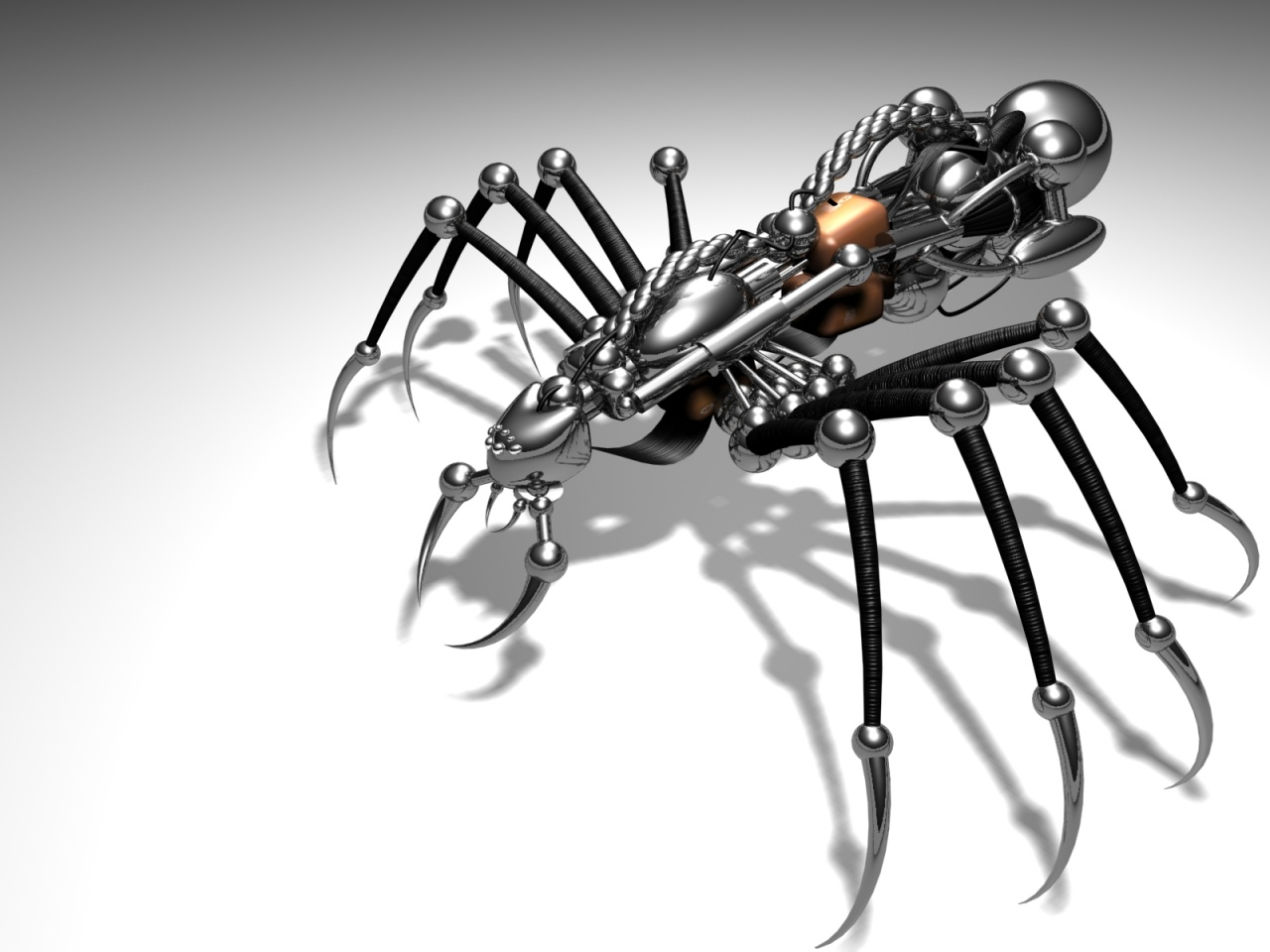 Cyber spider wallpapers 4291 1280x1024