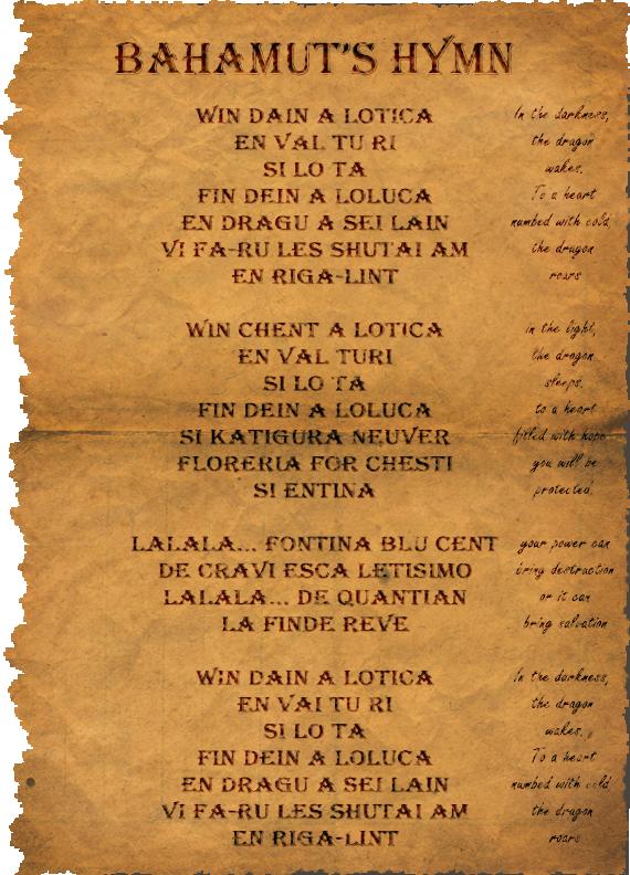 Bahamuts hymn