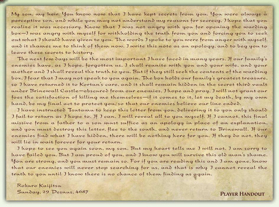 Rokuro letter