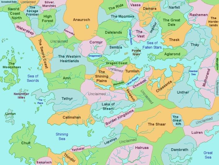Territories of Faerun