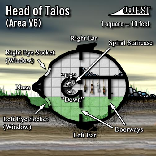 Head of talos   annotated by cartographer