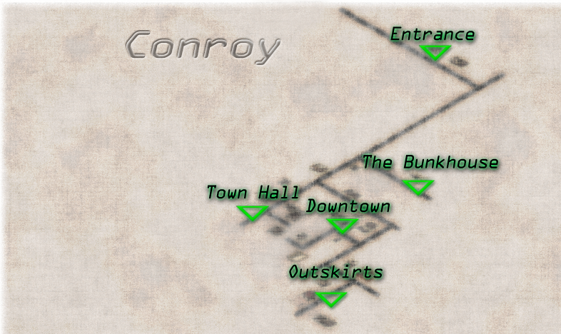 Conroy town map