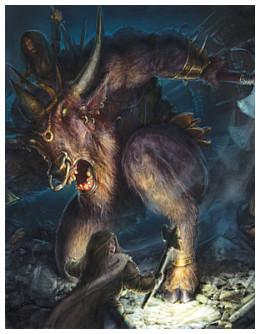 Old minotaur deity