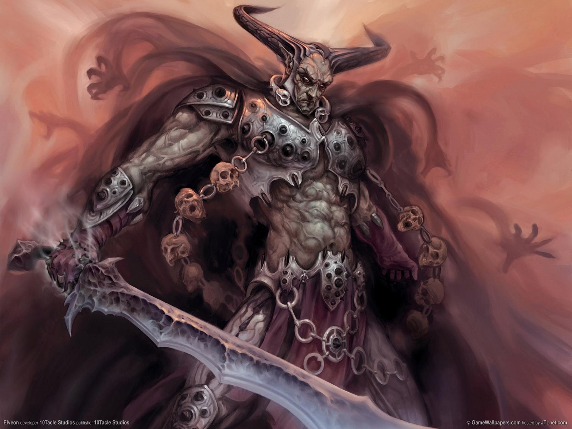 Devil monster horns sword souls