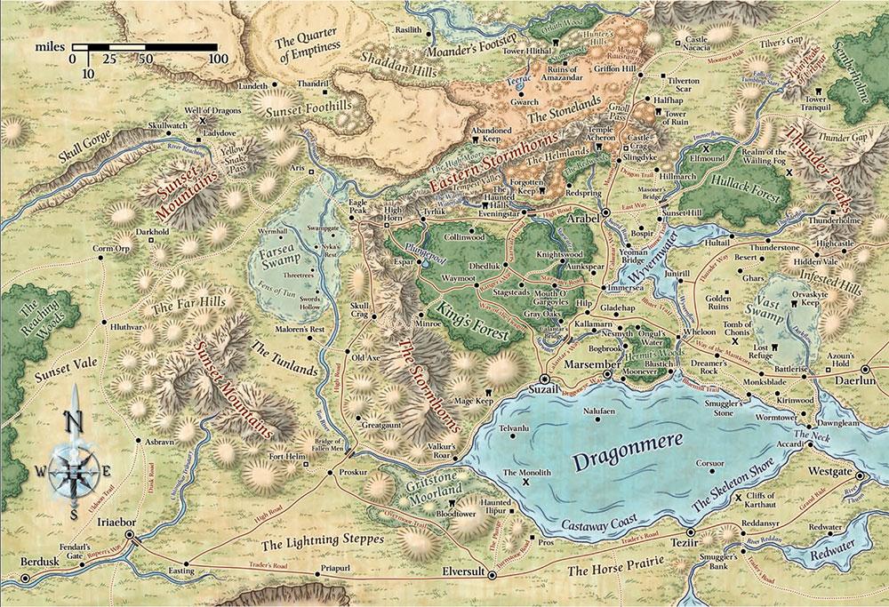 Cormyr map
