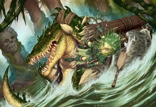 Fantasy art crocodiles rivers 2700x1800 wallpaper www.animalhi.com 98