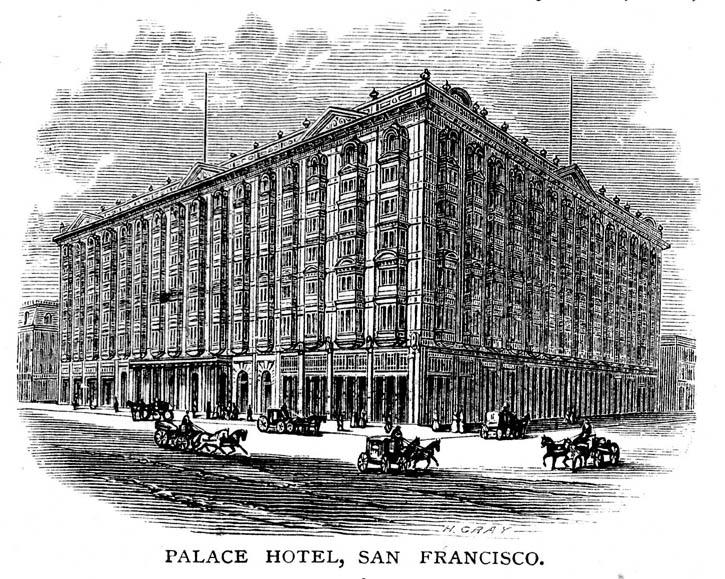 Palace hotel engraving