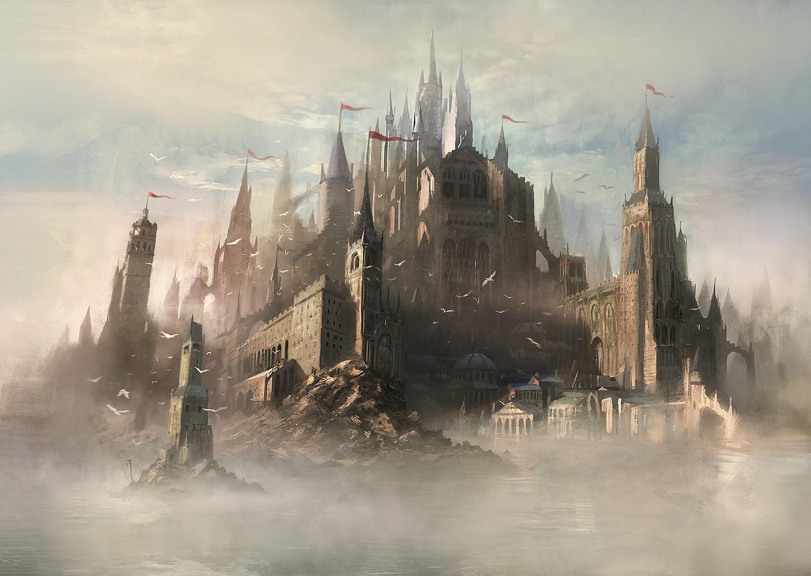 Fantasy castle wallpaper 11