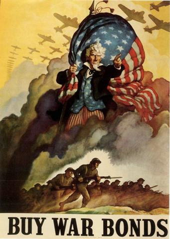 341px nc wyeth   war bonds poster   1942