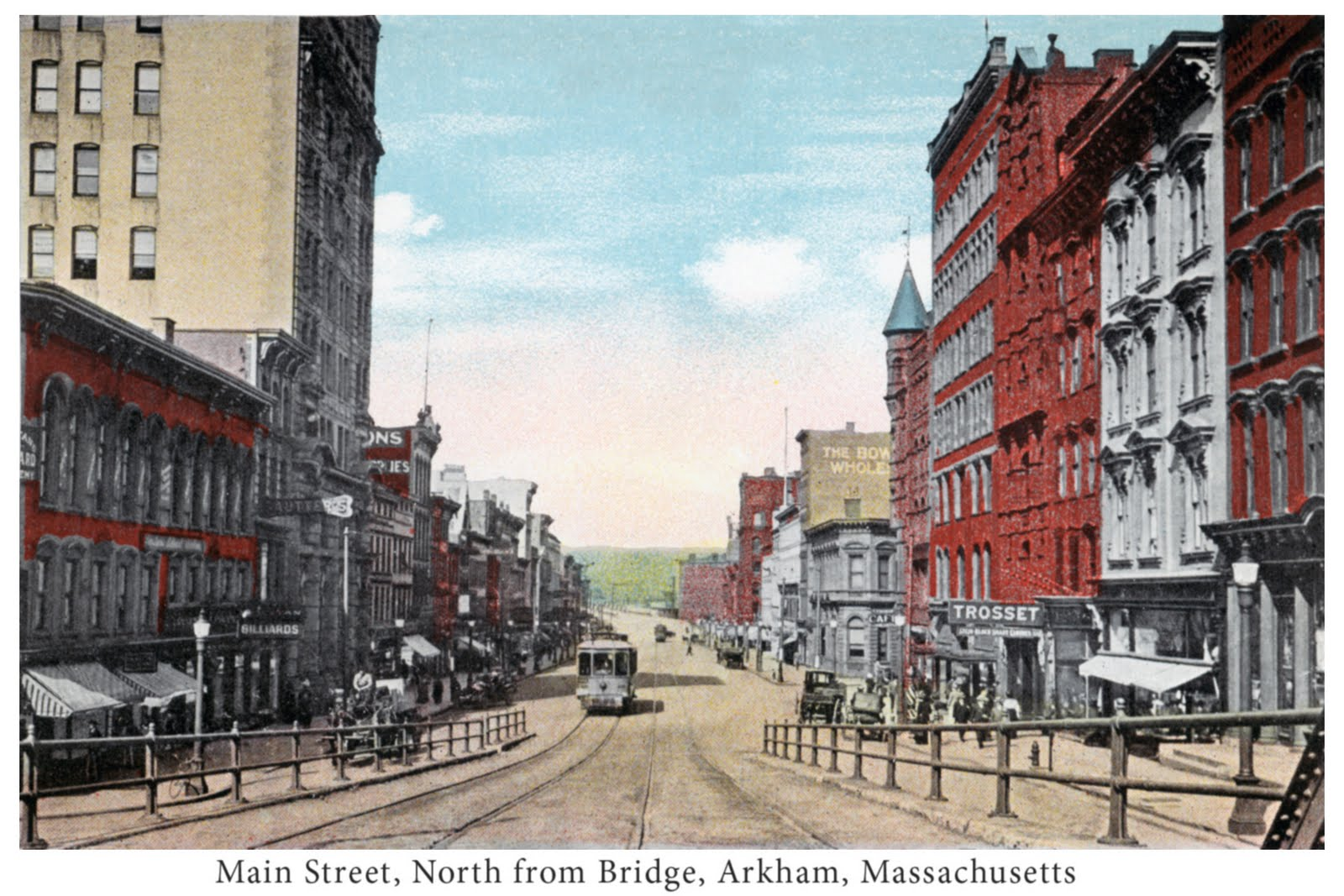 Downtown arkham massachusetts postcard