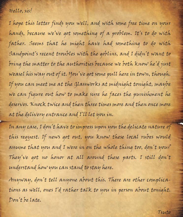 Tsuto s letter