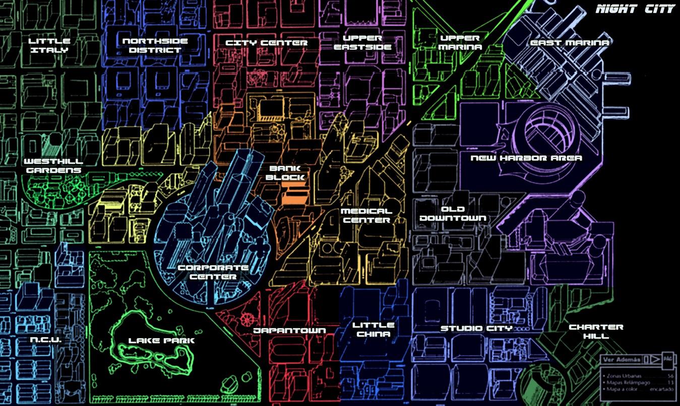 Night city map 2