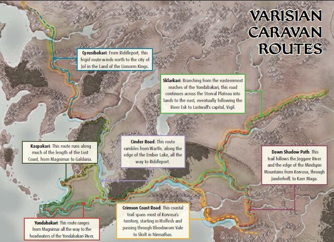 Varisian caravan routes