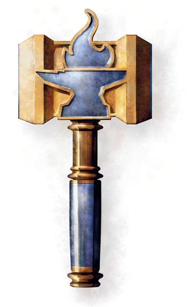 Moradin's Symbol on a Hammer