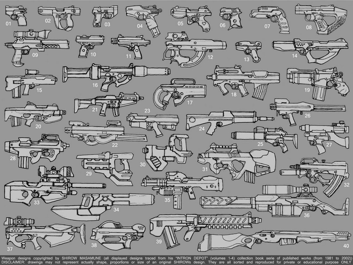 Shirow weapons