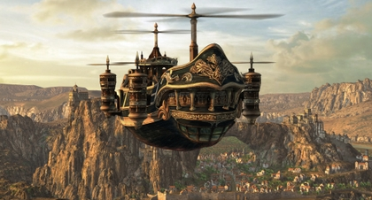 Steampunk airship 2000x1080 wallpaper www.vehiclehi.com 94