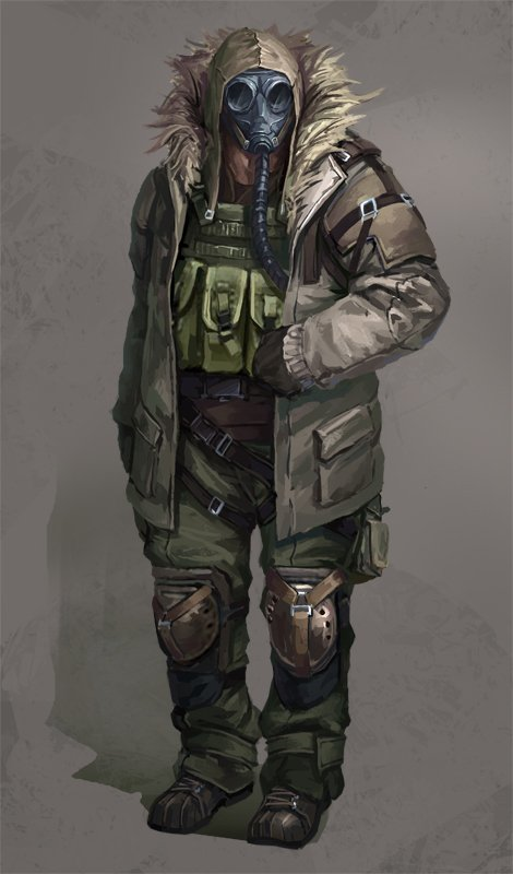 470x800 8665 latter day 2d character soldier post apocalyptic picture image digital art