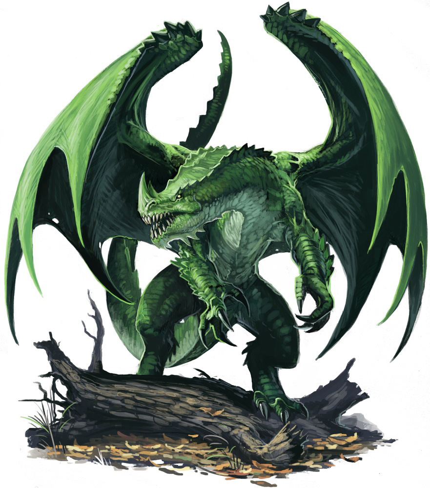 Pzo1001 green dragon