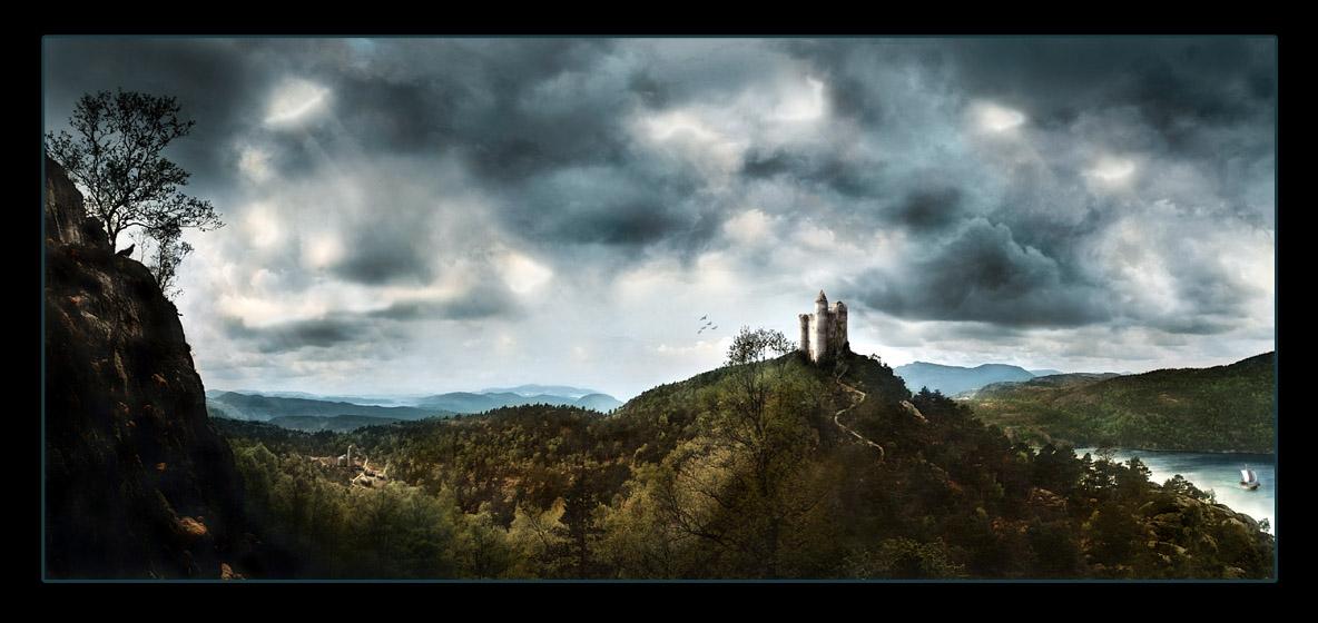 Medieval landscape by hourences
