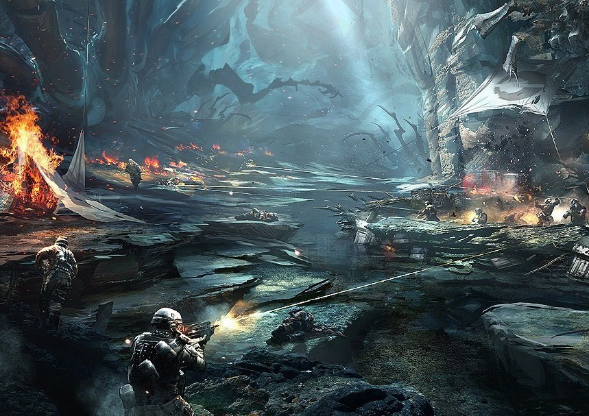 Helghast forest battle by tactican d3d4ya6