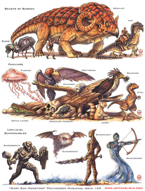 Poly169 darksun monsters preview