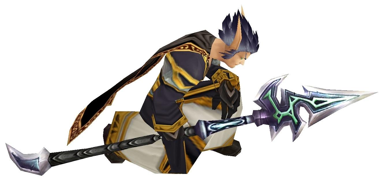 Ciruis kneel spear white