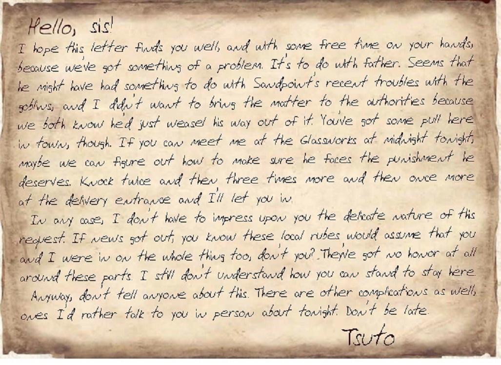 Pf tsuto s letter