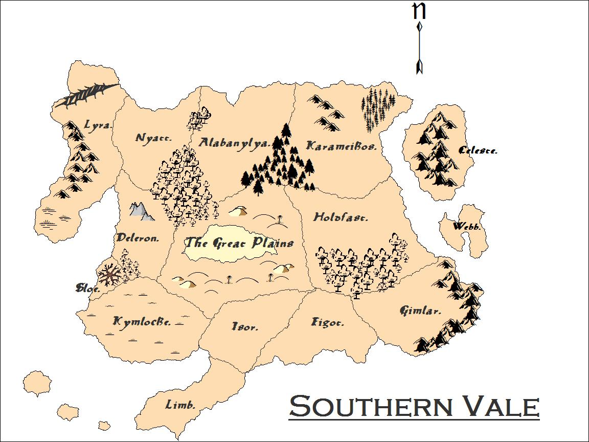 Southern vale map