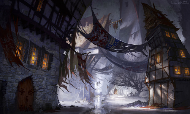 640x386 8474 grimme village 2d fantasy environment concept art village picture image digital art