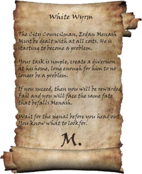 White wyrm letter