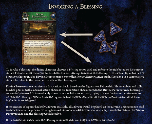 Invoking a blessing