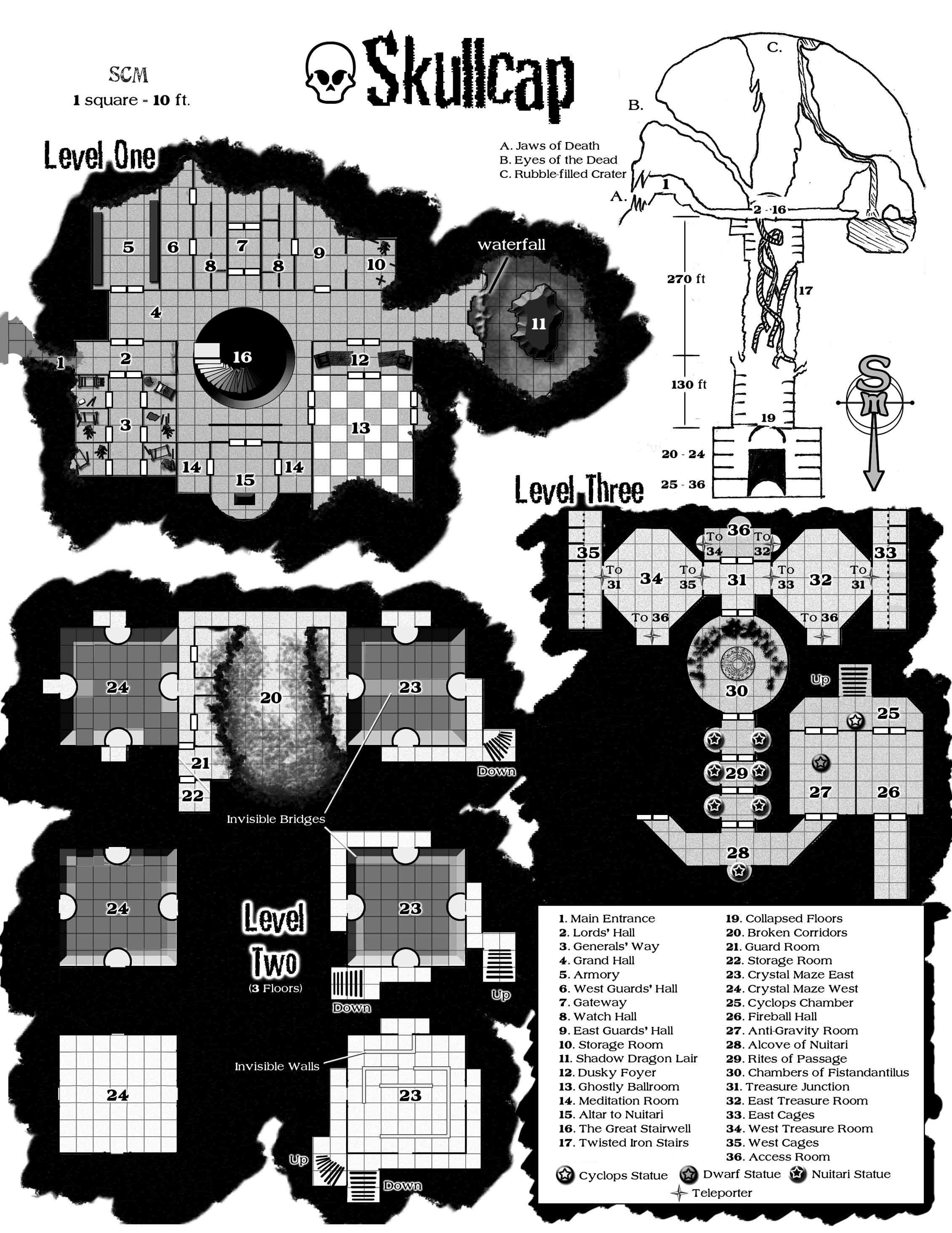 Skullcap map