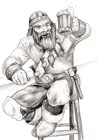 Dwarf at bar