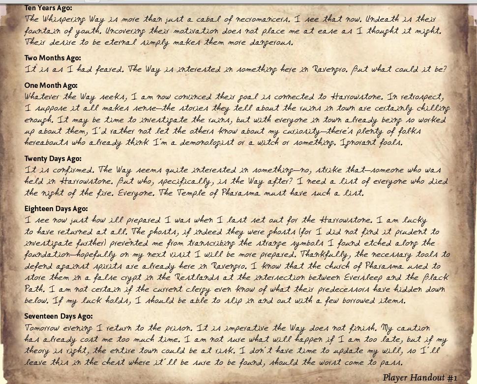 Professor lorrimor s journal