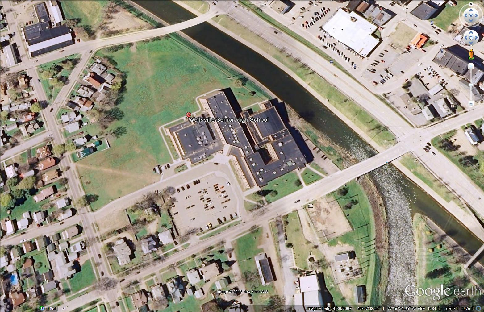 Wellsville senior high school top view