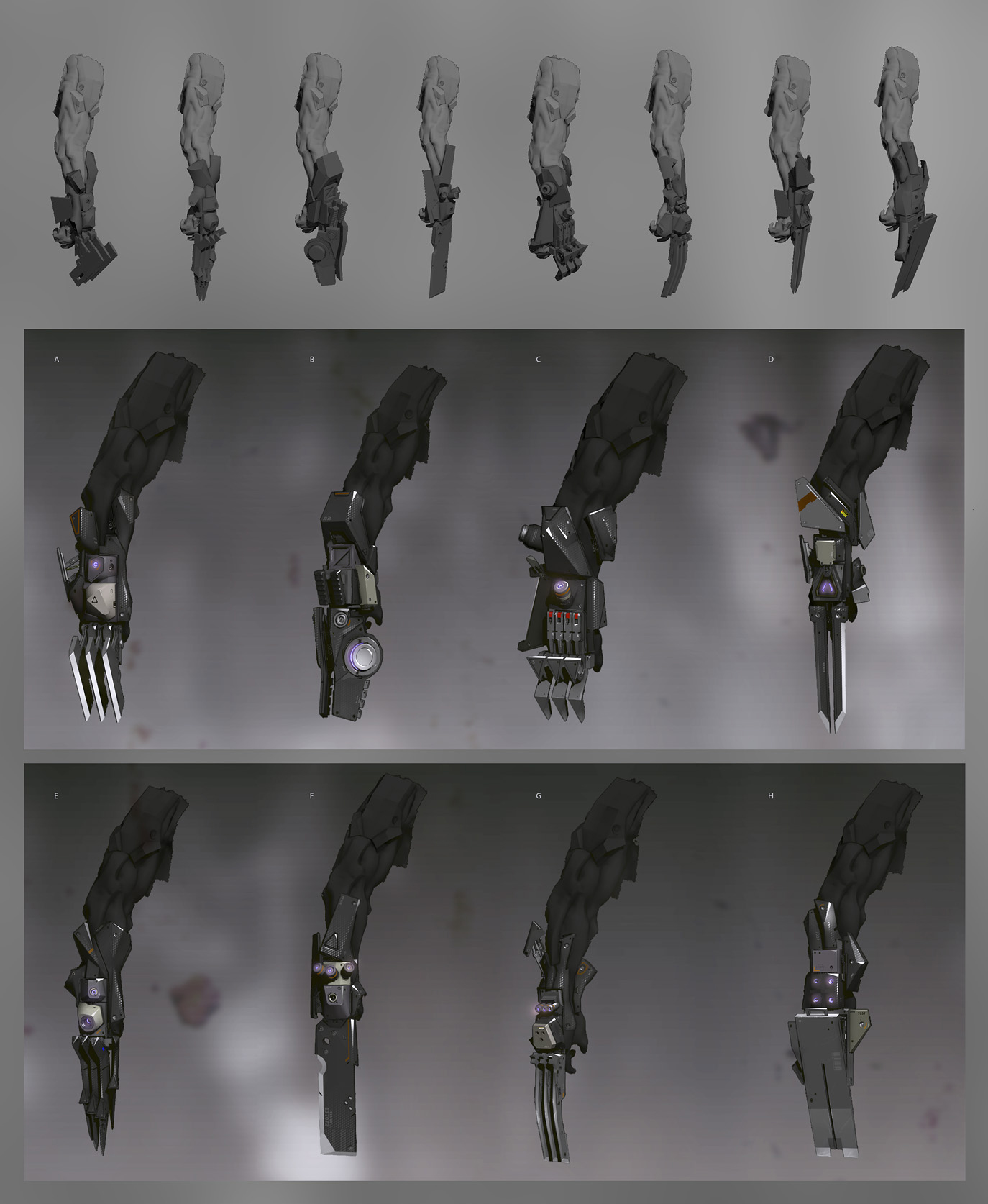 Synthmorph claw weapons