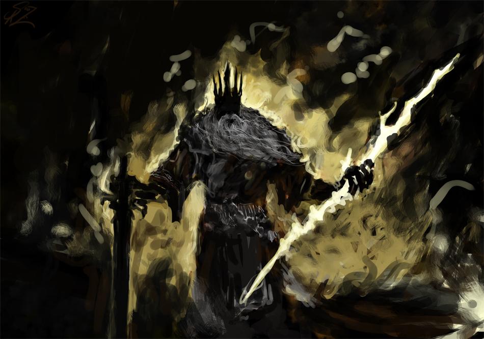Gwyn  lord of cinder by halycon450 d5euygj