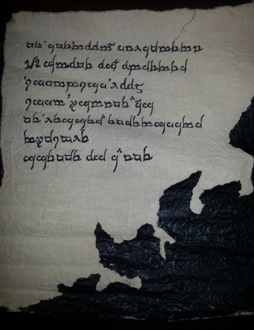 Ink stained scroll