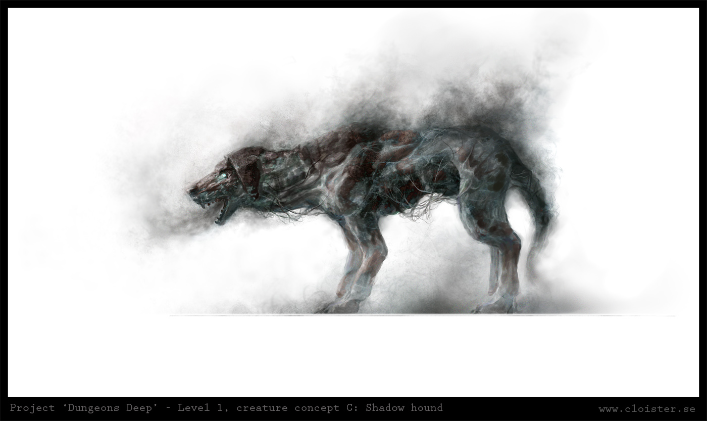 Dungeon level 1   creature concept b  shadow hound by cloister d4mzuc1
