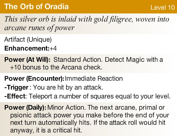 The orb of oradia