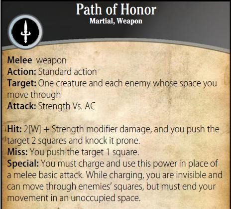 Pathof honor power