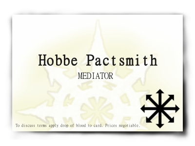 Hobbe's business card
