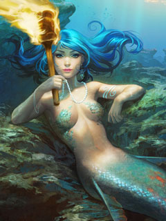 Torch mermaid crop small