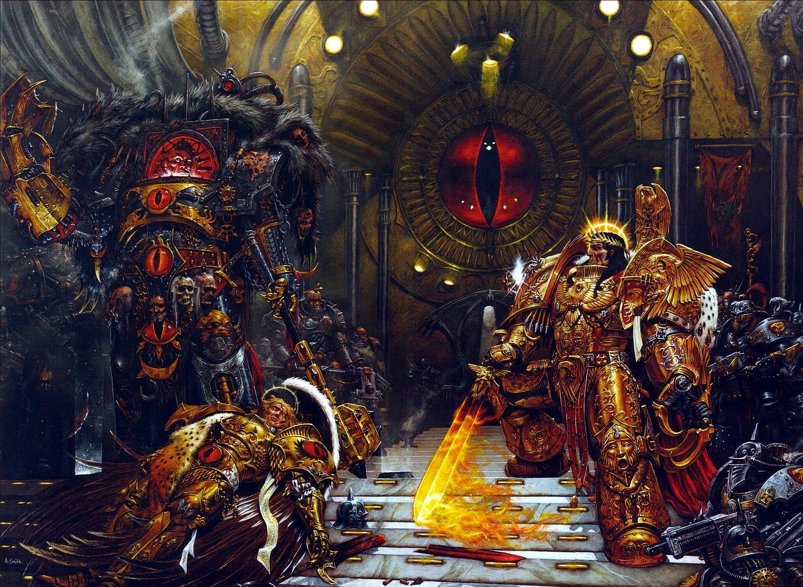 Sanguinius is slain by Horus