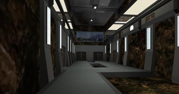 Asteroid hallway