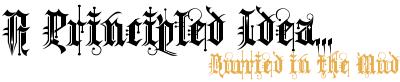 A principled idea logo