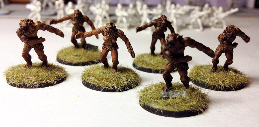 Rebel minis 15mm werewolves