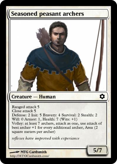 Seasoned peasant archer