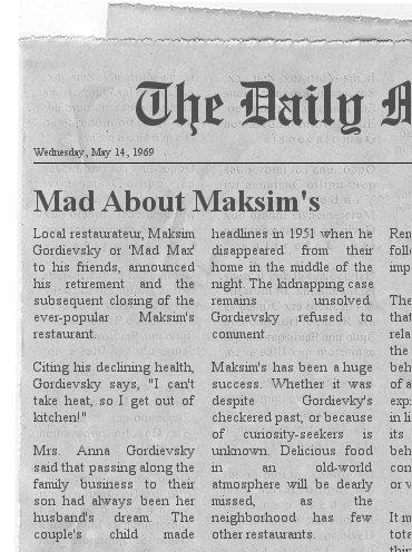 Maksim s newspaper